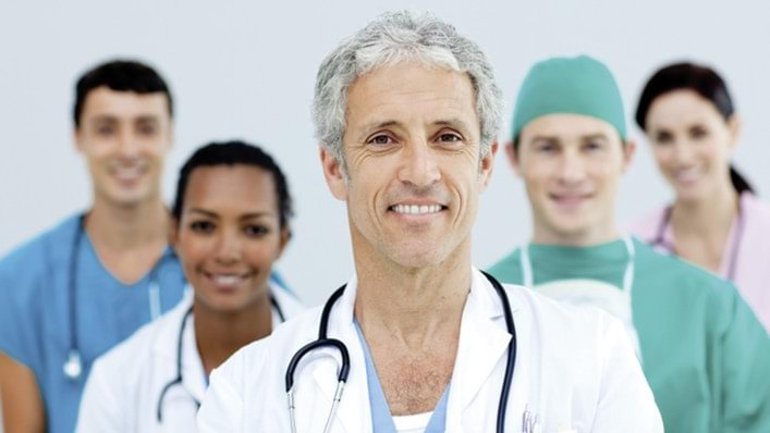 A health care team consisting of different physicians.