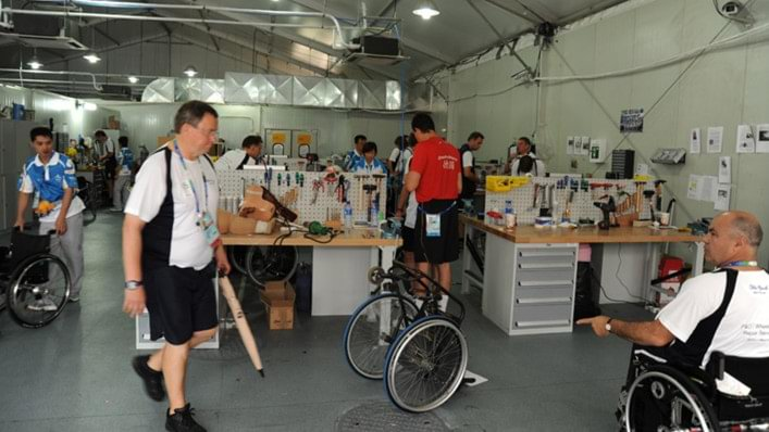 The Ottobock Technical Service Repair Centre at the Beijing 2008 Paralympic Games