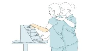 Repeating specific movements helps you to control your arm prosthesis more easily