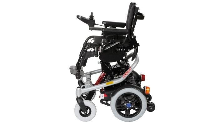 Skippi Plus with power seat tilt and maximum seat height adjustment