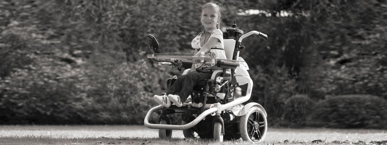 Boy with Skippi wheelchair