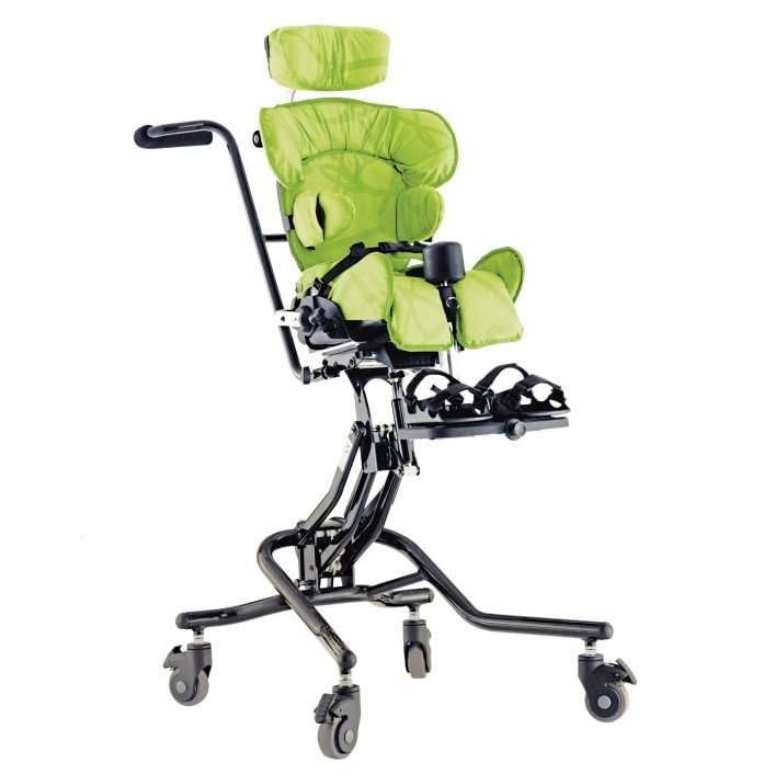 The Squiggles seating system with the Hi-Low chassis grows along with the young child.
