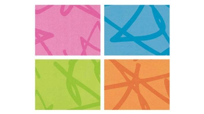 Covers for the Squiggles stander in pink, green, blue and orange