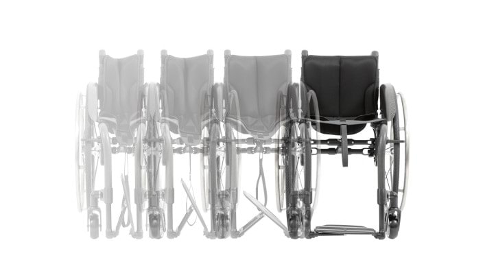 The view shows the Easy-Go folding system of the Zenit CLT wheelchair for active use