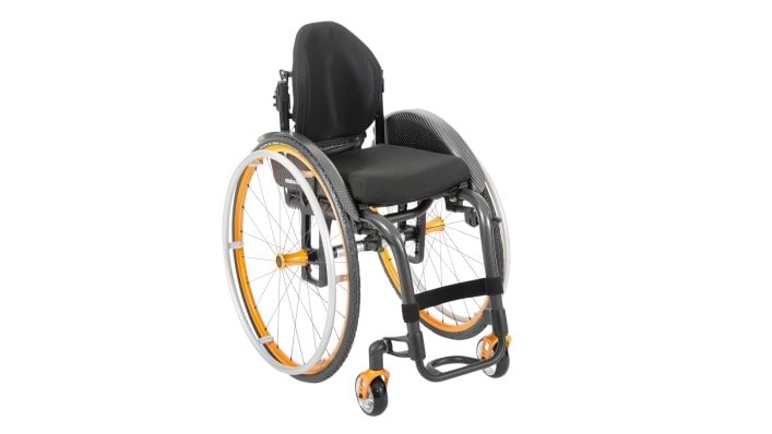 Overview of the high-end Zenit R wheelchair for active use with style package