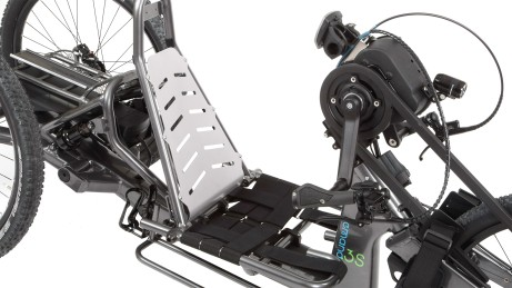 Adjustable handbike seating unit