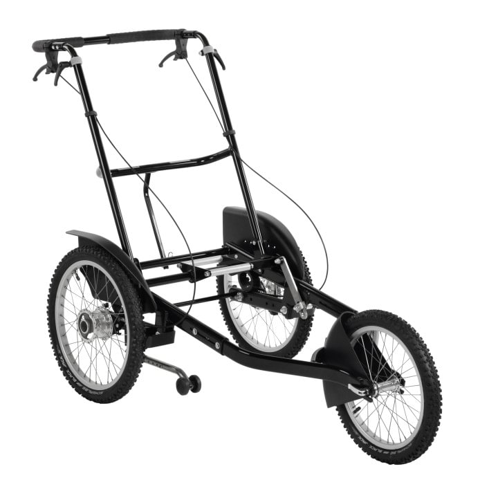3-wheel foldable outdoor mobility base for seating systems