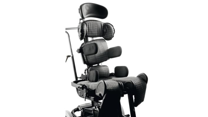 Hip and sacrum support of the KIT seating system