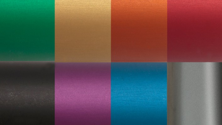 Voyager colour samples for the aluminium design package