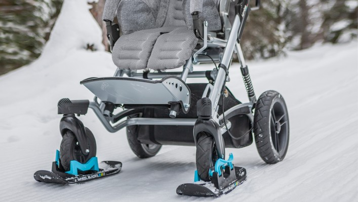 Stroller with Wheelblades