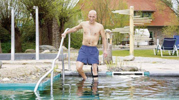 Aqualine bathing orthosis system