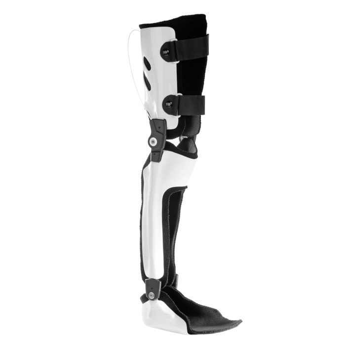Complete leg orthosis with CarbonIQ system joints