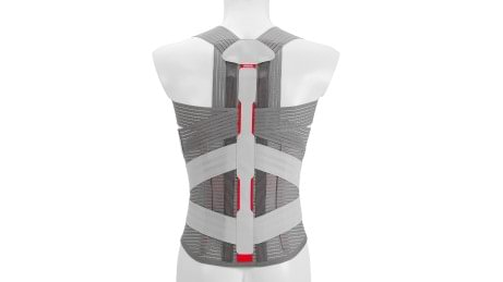 Mouldable metal rods and auto-adaptive stabilisation rods of the Dorso Direxa Posture back orthosis