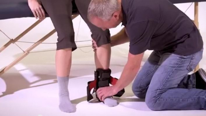 Malleo TriStep ankle orthosis donning video
