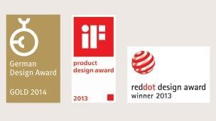 Gewonnene Designpreise der Patella Pro
