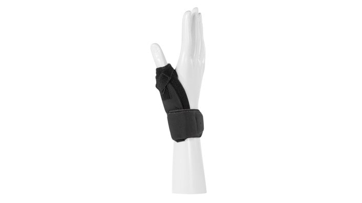 Overall view of the Ottobock Rhizo Arexa thumb brace.