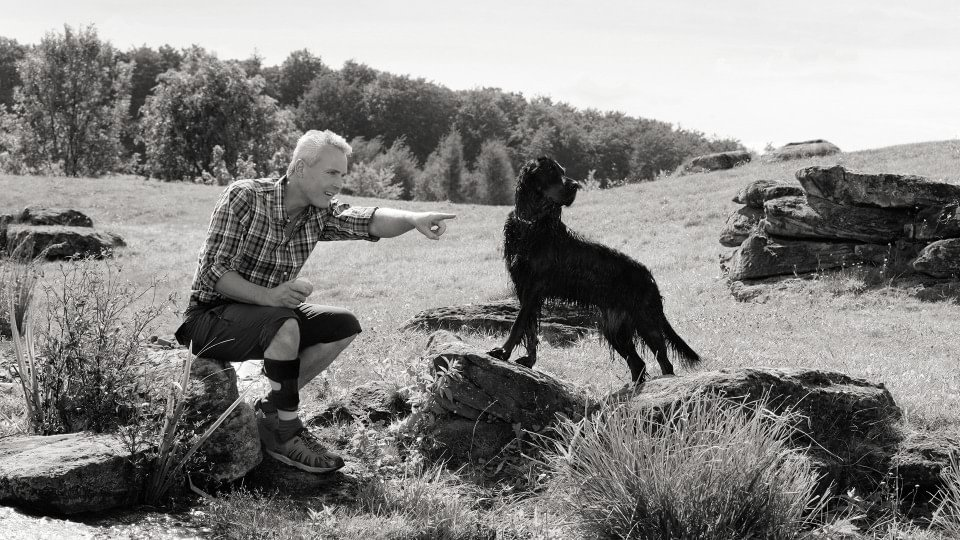Henning with WalkOn Reaction and dog