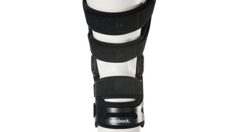 Numbered strap sequence of the Xeleton knee orthosis