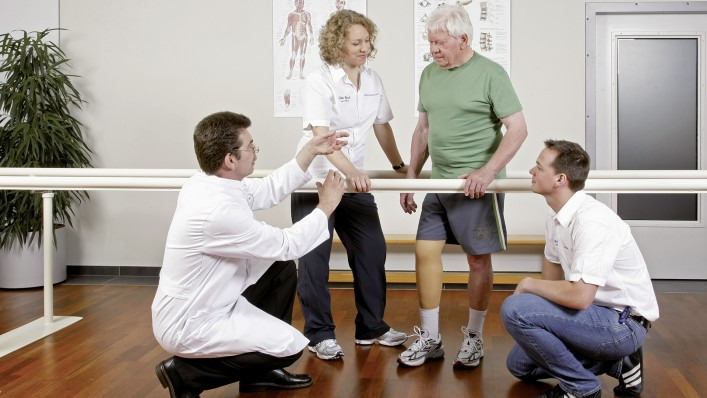 User during rehabilitation