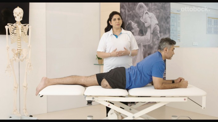 How to prevent muscle contractures through moving the residual limb?