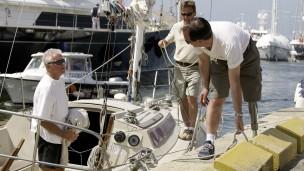 Massimo sale a navegar
