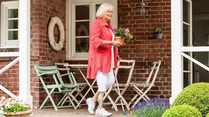Christa loves taking care of her plants, so she spends a great deal of time on her patio.
