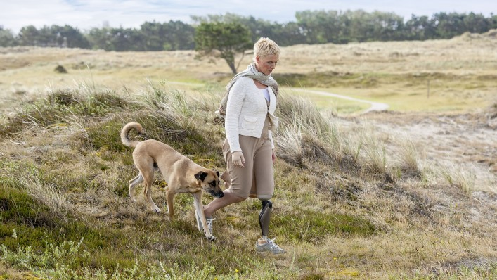 Jenny loves leaving the official trails to follow her dog through rough terrain now and then.