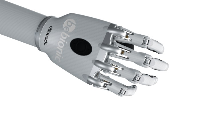 Image of the bebionic hand small in white in the power grip