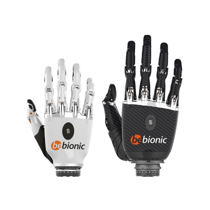 white and black bebionic hand
