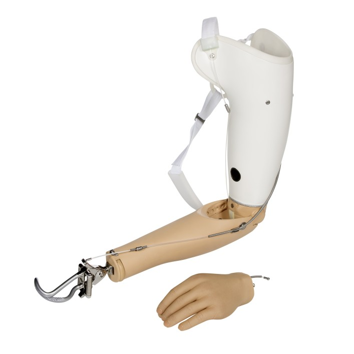 Body-powered upper limb prosthesis including hook and hand prosthesis