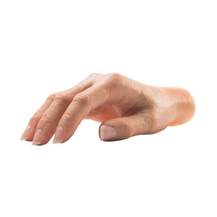 Silicone partial hand prosthesis