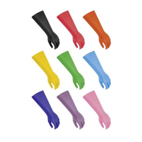 Prosthetic gloves for children in all nine colours.