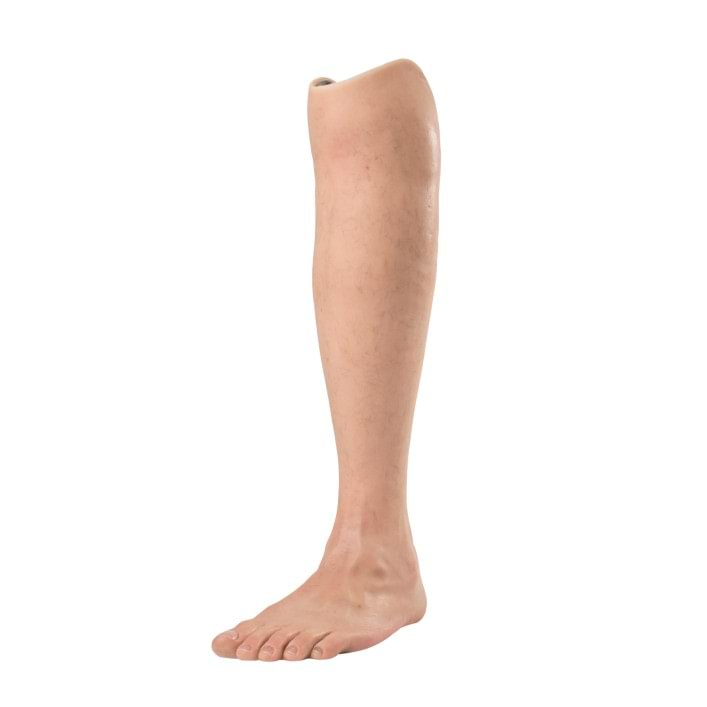 Natural cosmetic cover for leg prostheses