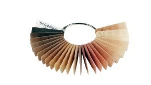 Kleurenpalet voor silicone overtrekken