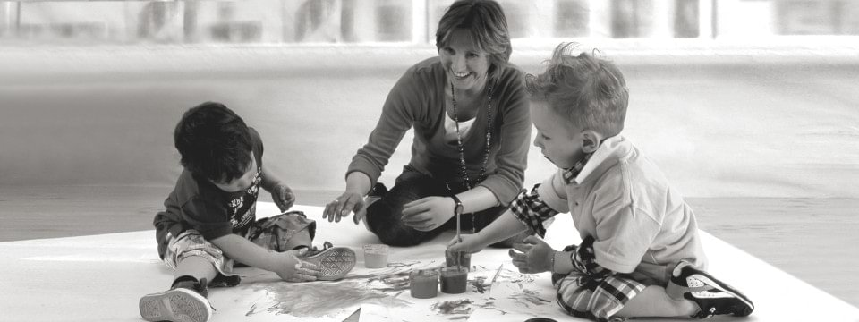 AxonSkin user playing with her children