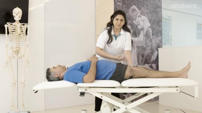 How can moving the residual limb prevent muscle contractures?