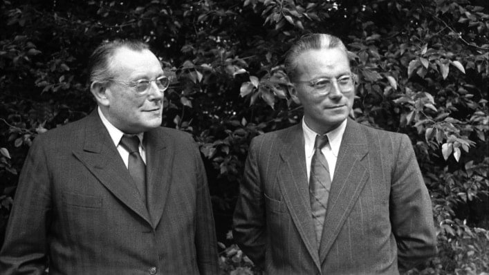 Otto Bock and son-in-law Dr Max Näder