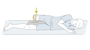 Drawing shows how to train the abductors muscle.
