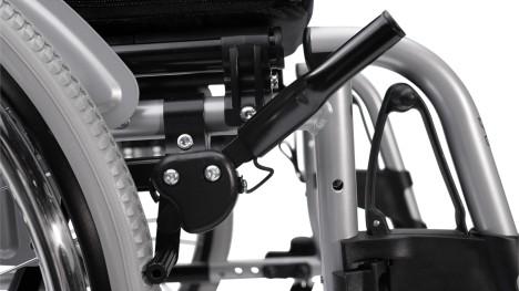 Hamulec wózka inwalidzkiego Motus na wysokości kolan