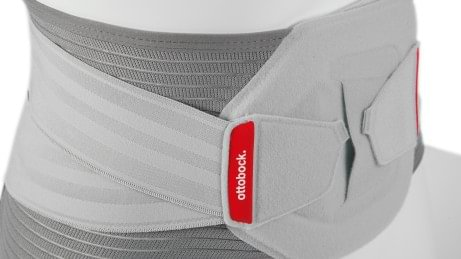 Adjustable elastic straps on the Lumbo Direxa back orthosis