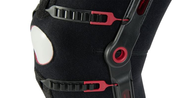 Ratchet adjustment of the Patella Pro knee orthosis