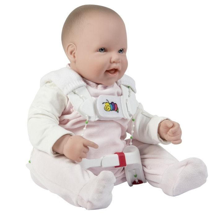 Baby with Tübingen hip flexion and abduction orthosis