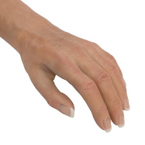 Custom silicon prosthetic hand.