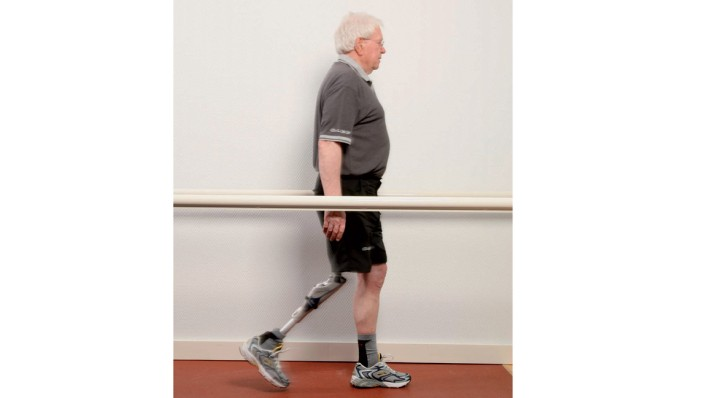 Swing phase of the gait cycle.